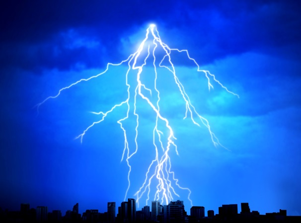 Image result for How does thunder lightning affects TV?