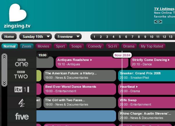 tv listings. zingzing tv listings tv